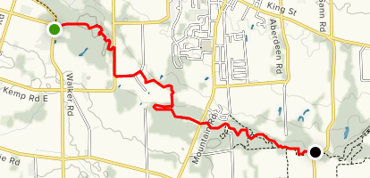 Bruce Trail: Walker Road to Quarry Road Map