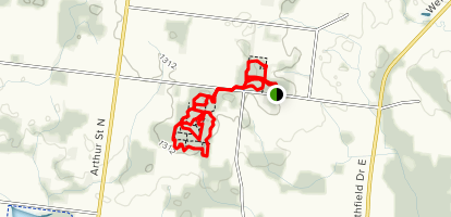 Sandy Hills Trail: North and South Side Map