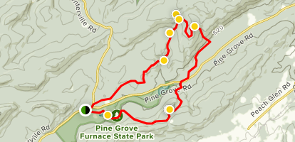 Moss and Appalachian National Scenic Trail Loop  Map