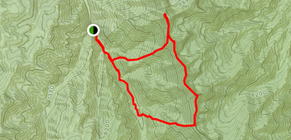 Matterhorn to Square Top to Jumbo Peak to Jarbidge Peak via Pine Creek Campground Map