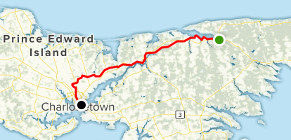 Map Of Canada During Confederation.Confederation Trail St Peters To Charlottetown Prince Edward