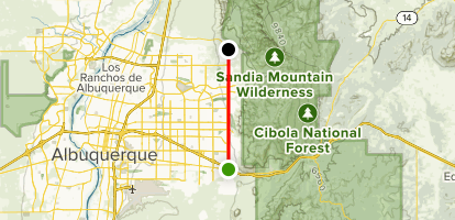 North New Mexico Map.Tramway Boulevard Trail South To North New Mexico Alltrails