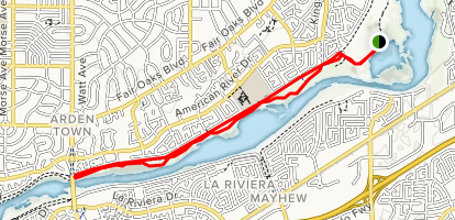 Levee Path and American River Bike Trail: Williams Pond ... on map of clinton river michigan, map of truckee river bike trail, map of oleta state park, map of sacramento neighborhoods, map of san gabriel river bike trail,