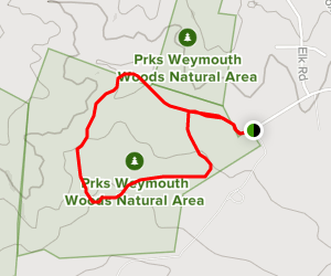 Paint Hill: Pyxie Moss and Fox Squirrel Loop Map