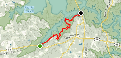 Falls Lake Trail Hwy 98 To Hwy 50 North Carolina Alltrails - Map-of-us-hwy-50