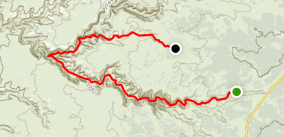 on grand gulch trail map