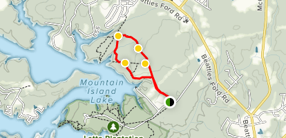 Hill to Cove to Split Rock Loop - North Carolina | AllTrails Rock Hill Nc Map on