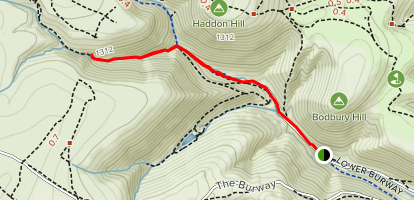 Carding Mill Valley Map Lightspout Waterfall via Carding Mill Valley   Shropshire, England