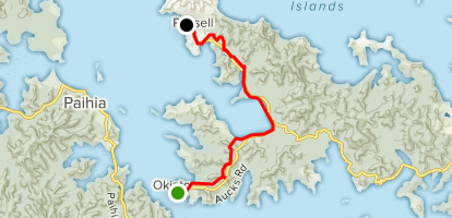 New Zealand Northland Map Detailed.Okiato To Russell Walkway Northland New Zealand Alltrails