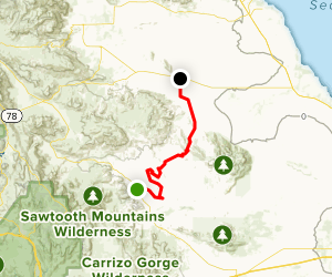 Mud Caves and Fish Creek Wash to Ocotillo Wells OHV Trail ... on