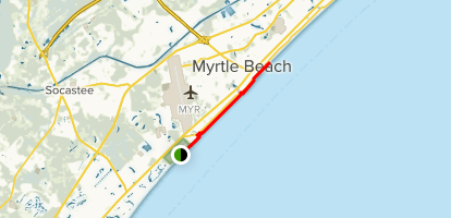 Myrtle Beach State Park To Boardwalk Walk South