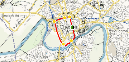 Map Of England Chester.Chester City Walls Cheshire England Alltrails