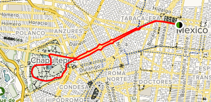 Alameda Central to Chapultepec via Ciclovia Juárez - Mexico ...