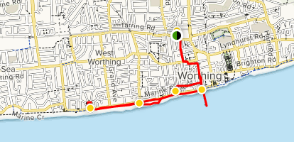 Map Of Worthing Worthing Sea Front   West Sussex, England | AllTrails