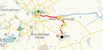 Map Of England Lincolnshire.Spires And Steeples Part 1 Lincoln To Branston Lincolnshire