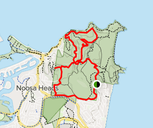 Sunshine Beach, Boiling Point, and Laguna Lookout Map