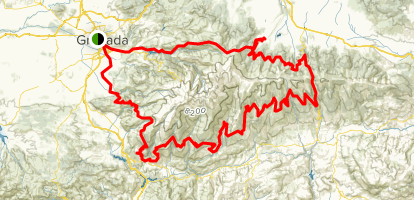 Full Map Of Spain.Transnevada Full Route Andalusia Spain Alltrails