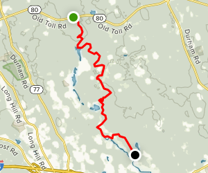 Menunkatuck Trail South From Route 80 Connecticut Alltrails - Map-of-us-route-80