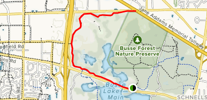 Busse Woods Map Busse Woods Red and Black Trail   Illinois | AllTrails