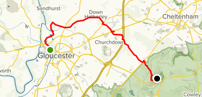 Map Of England Gloucestershire.The Gloucestershire Way Stage 4 Gloucester To Crickley
