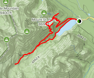 Plain of Six Glaciers and the Beehive Map