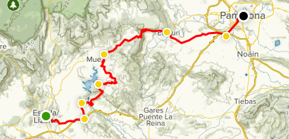 Map Of Spain Navarra.Lizarra Navarra To Pamplona Cycle Route Navarre Spain Alltrails