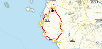 Sizilien, Marzara del Vallo, and Marsala Cycle Route ...