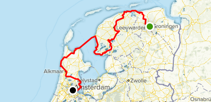 Groningen to Amsterdam Cycle Route - Groningen, Netherlands ...