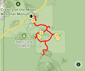 Craters of the Moon Scenic Loop Map