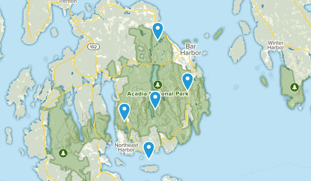 Acadia National Park Dog Friendly Map