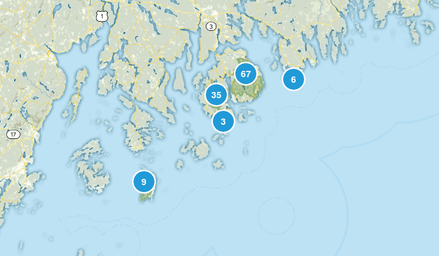 Acadia National Park Dogs On Leash Map