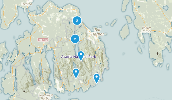 Best Mountain Biking Trails In Acadia National Park AllTrailscom - Acadia national park on the map of the us