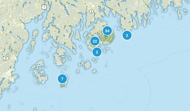 Acadia National Park Trail Running Map