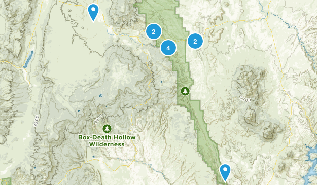Capitol Reef National Park River Map