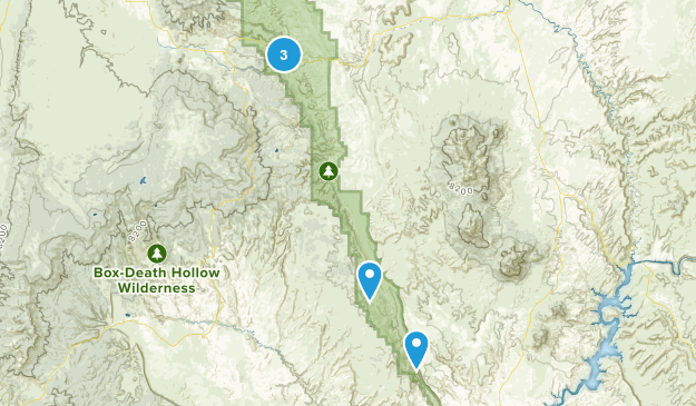 Capitol Reef National Park Trail Running Map