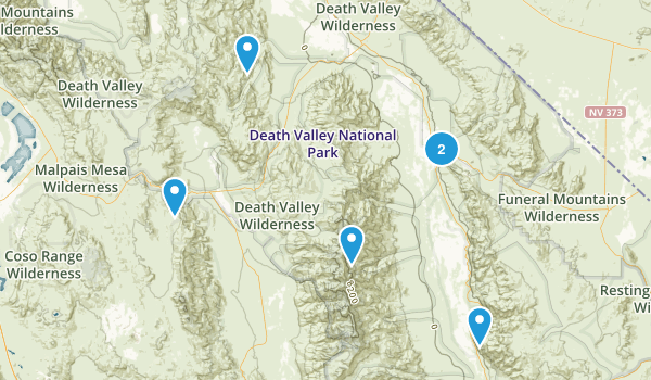 Best Trail Running Trails In Death Valley National Park - Us map death valley