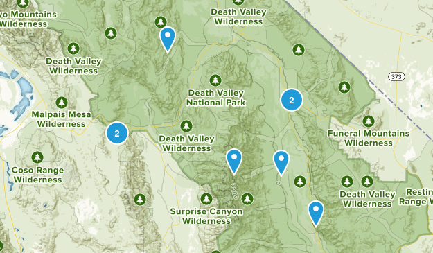 Death Valley National Park Trail Running Map