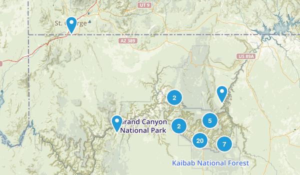 Grand Canyon National Park River Map
