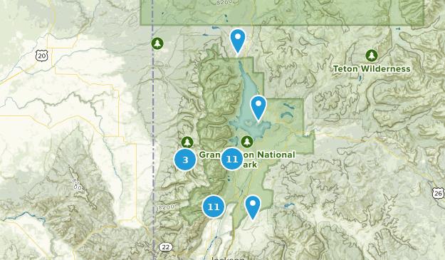 Parc national de Grand Teton Camping Map