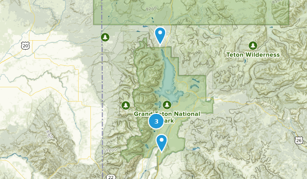 Grand Teton National Park Fishing Map