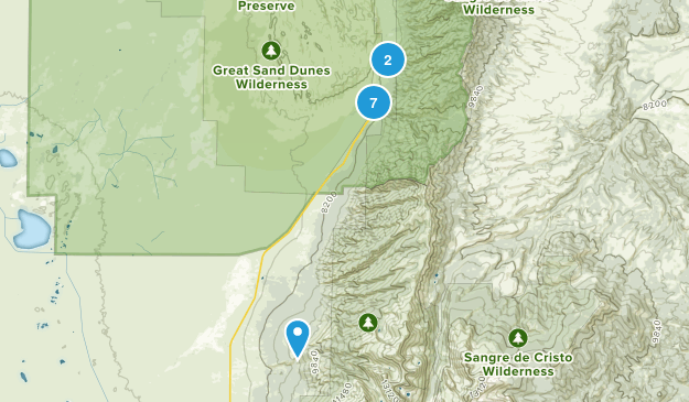 Great Sand Dunes National Park Nature Trips Map