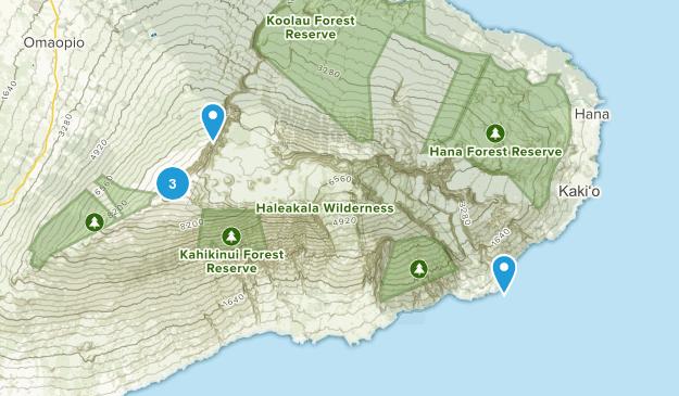 Haleakala National Park Trail Running Map