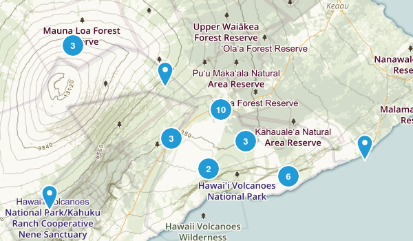 Best Hiking Trails In Hawaii Volcanoes National Park Photos - Map of us volcanoes