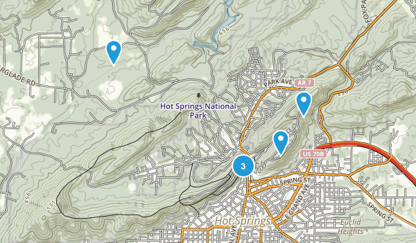 Hot Springs National Park Kid Friendly Map