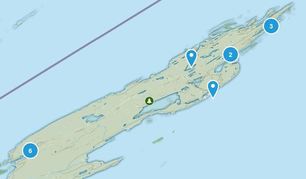 Isle Royale National Park Wild Flowers Map