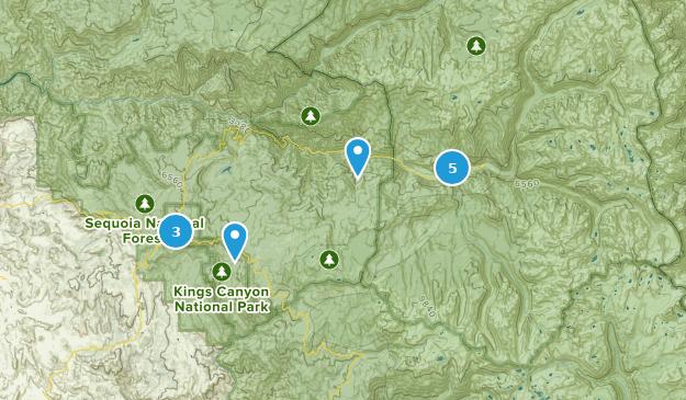 Kings Canyon National Park Kid Friendly Map