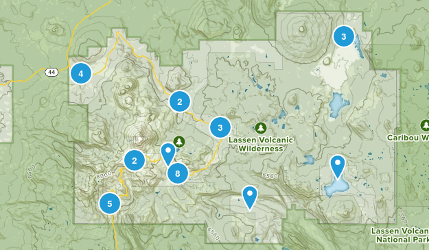 Lassen Volcanic National Park Walking Map