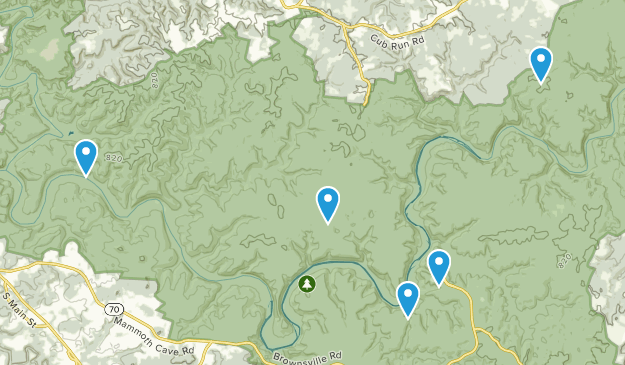 Mammoth Cave National Park Camping Map