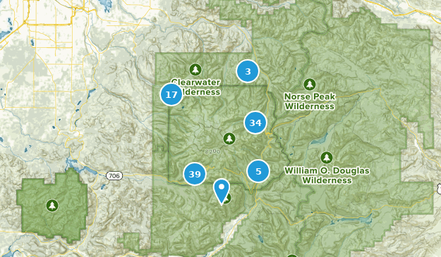 Mount Rainier National Park Views Map