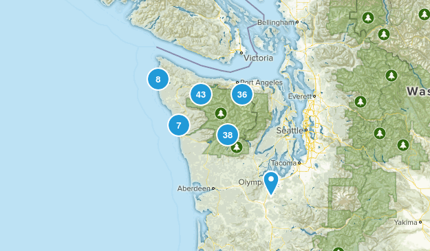 Olympic National Park Birding Map